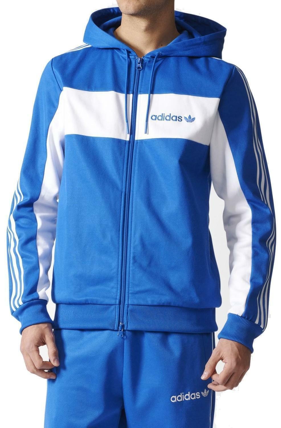 adidas originals adidas minoh hooded giacchetto uomo azzurro