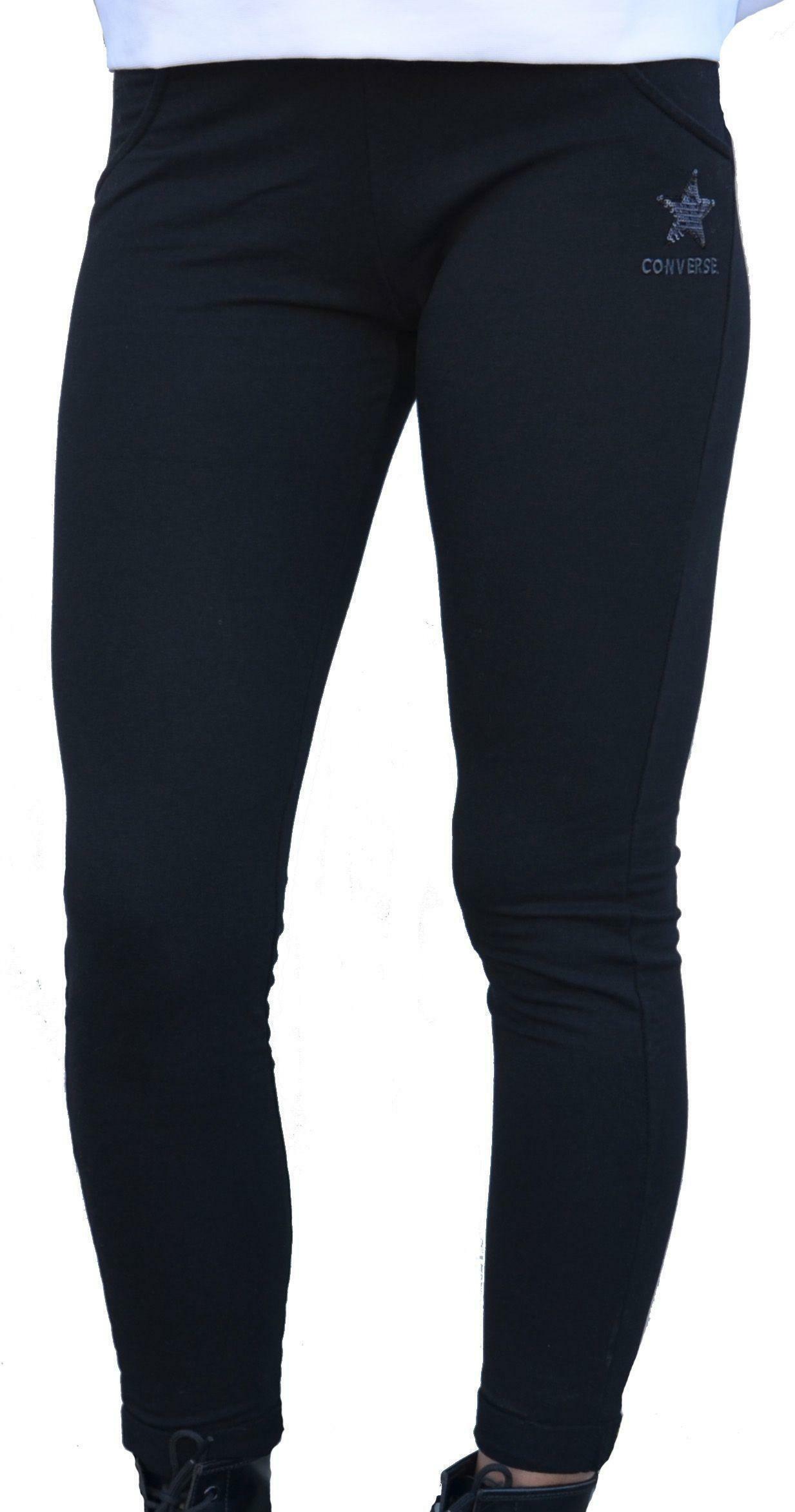 converse converse fleece hoodie pantalone tuta donna nero 10006160a01