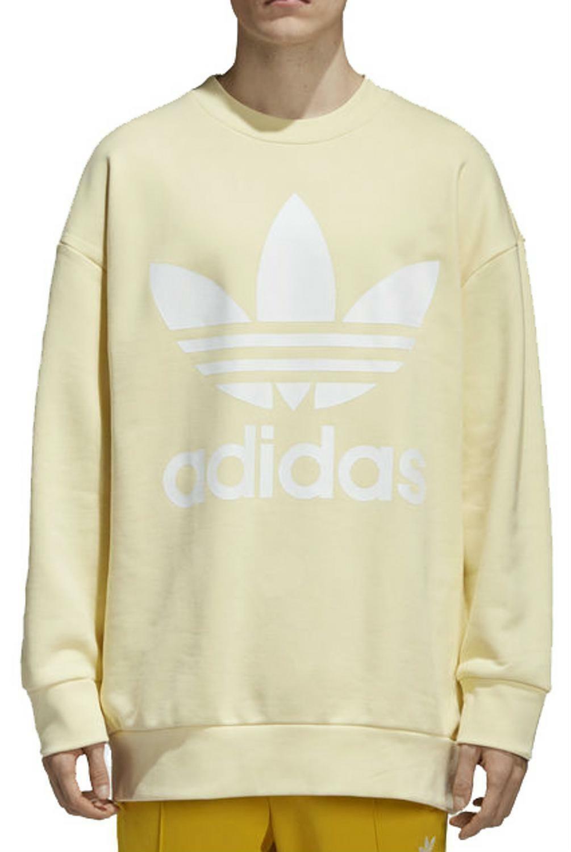 low priced 74c0c 7e9e6 Adidas trefoil over felpa uomo gialla