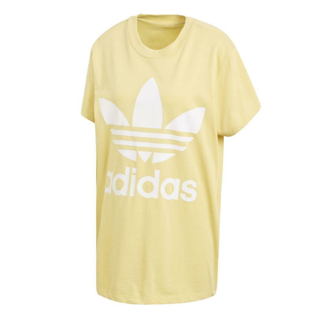 adidas adidas big treoil tee t-shirt donna gialla