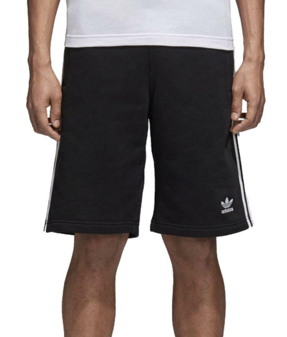 adidas adidas originals 3-stripes pantaloncini uomo neri cw2980