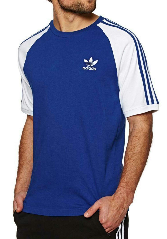 adidas adidas originals 3-stripes t-shirt uomo blu