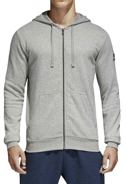 adidas adidas essential base giacchetto uomo grigio bk3716