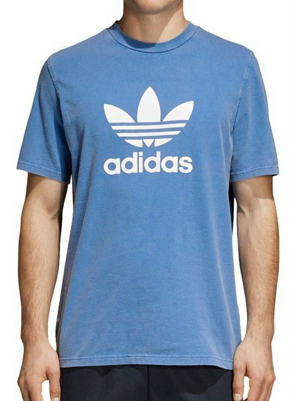 adidas adidas originals trefoil t-shirt uomo azzurra cw0703