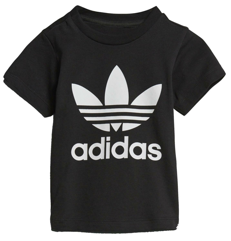 adidas adidas originals trefoil t-shirt bambino nera