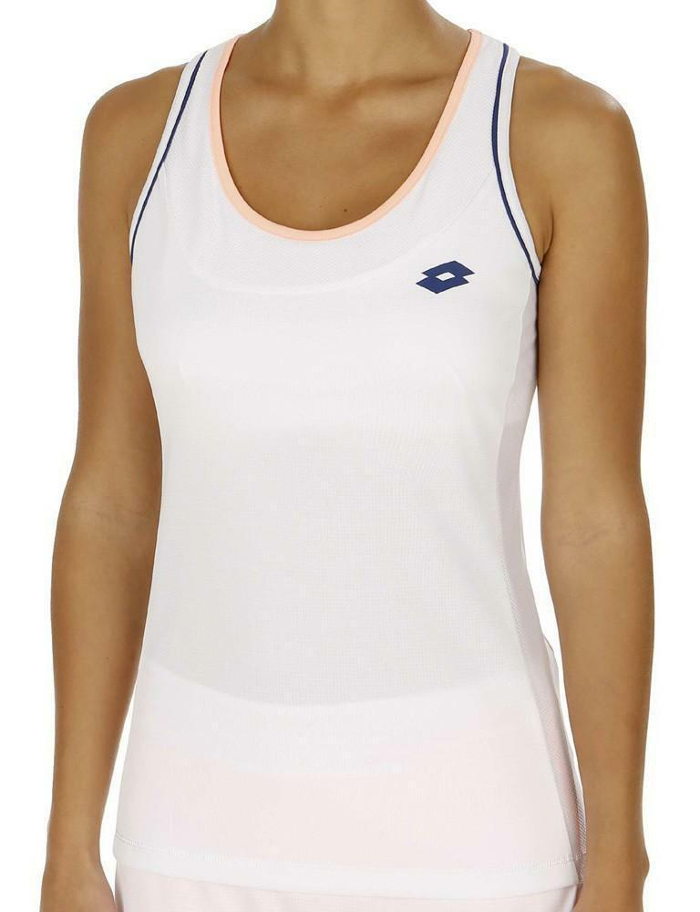 lotto shela ii tank w canotta tennis donna deep dry tech bianca r9822