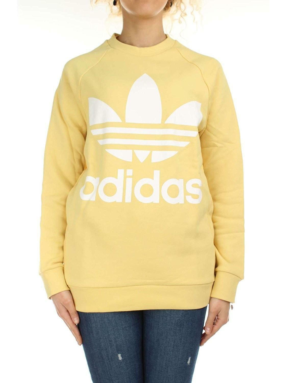 adidas adidas oversized sweat felpa gialla donna