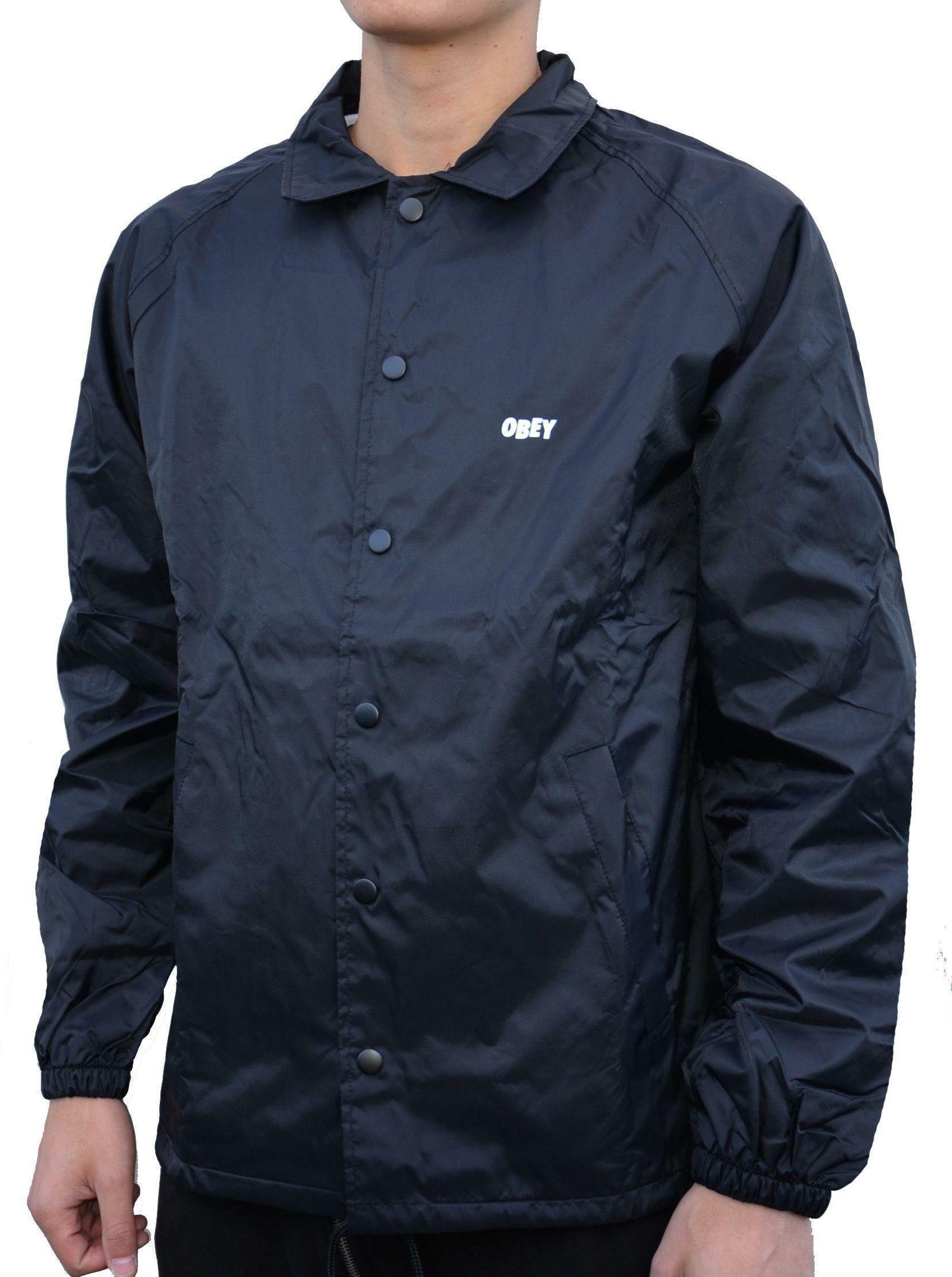 obey obey jumble lo-fi giacchetto uomo nero