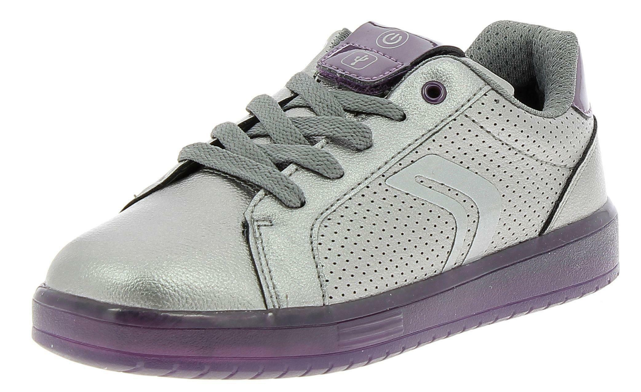 geox geox j kommodor g scarpe sportive bambina grigie luci
