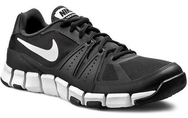 Uomo Flex Tr Sportive Tela Nere 684701 3 Pelle Scarpe Nike Show 0POywNmv8n