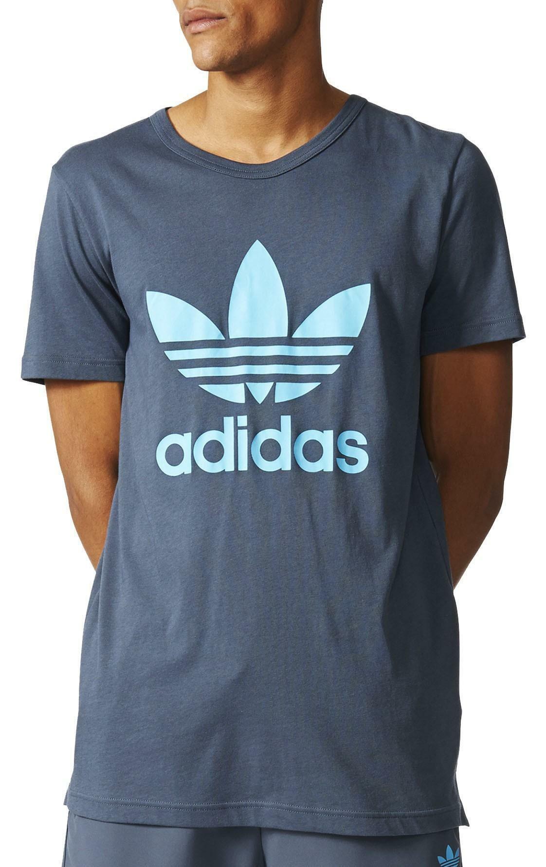 adidas adidas es trefoil tee t-shirt uomo grigia