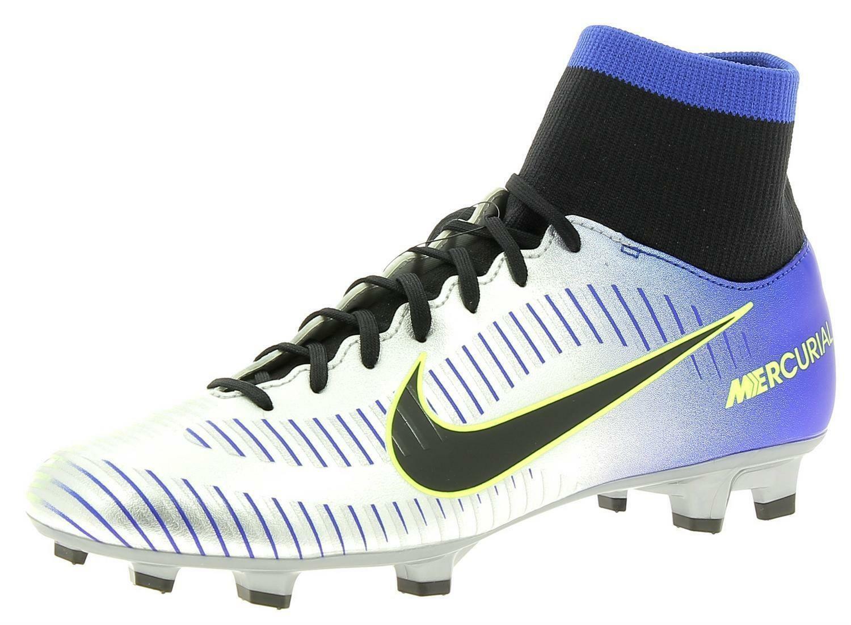Dettagli su Nike Mercurial Victory VI DF NJR Scarpe Calcio Uomo Argento