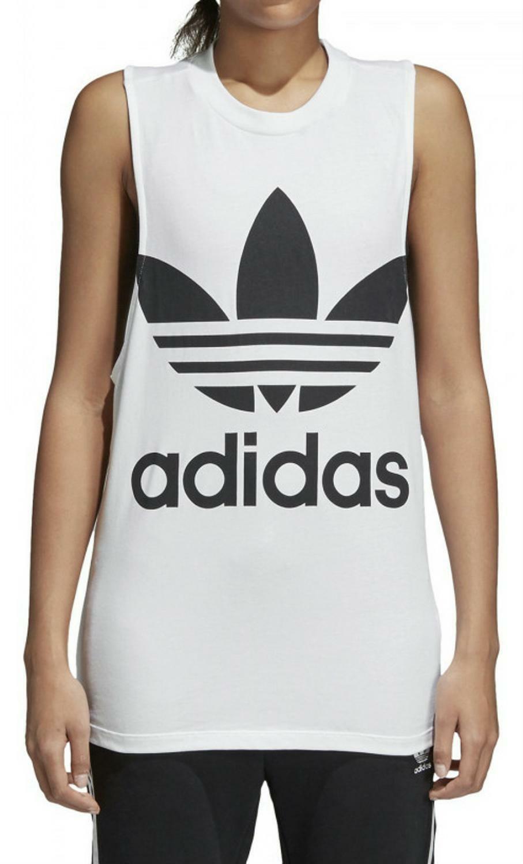 adidas originals adidas trefoil tank t-shirt donna bianca ce5580