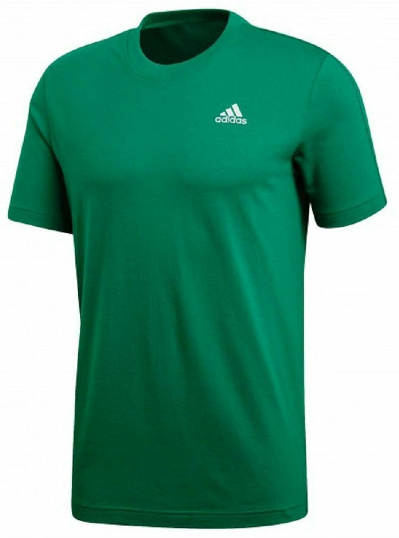 adidas adidas ess base tee t-shirt uomo verde cw3805