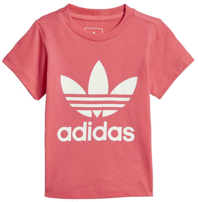 adidas adidas originals i trefoil t-shirt bambina rosa