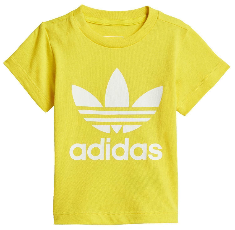 adidas adidas originals i trefoil tee t-shirt bambino gialla