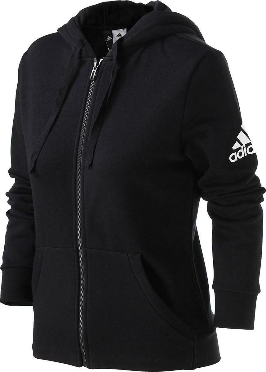 adidas adidas ess lin fz hd giacchetto donna nero s97085