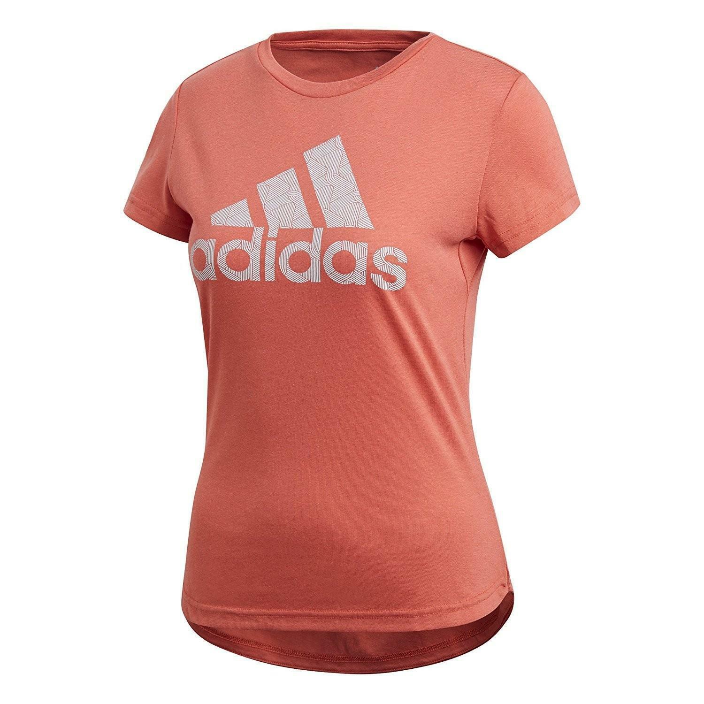 adidas adidas adi training t-shirt donna trace scarlet