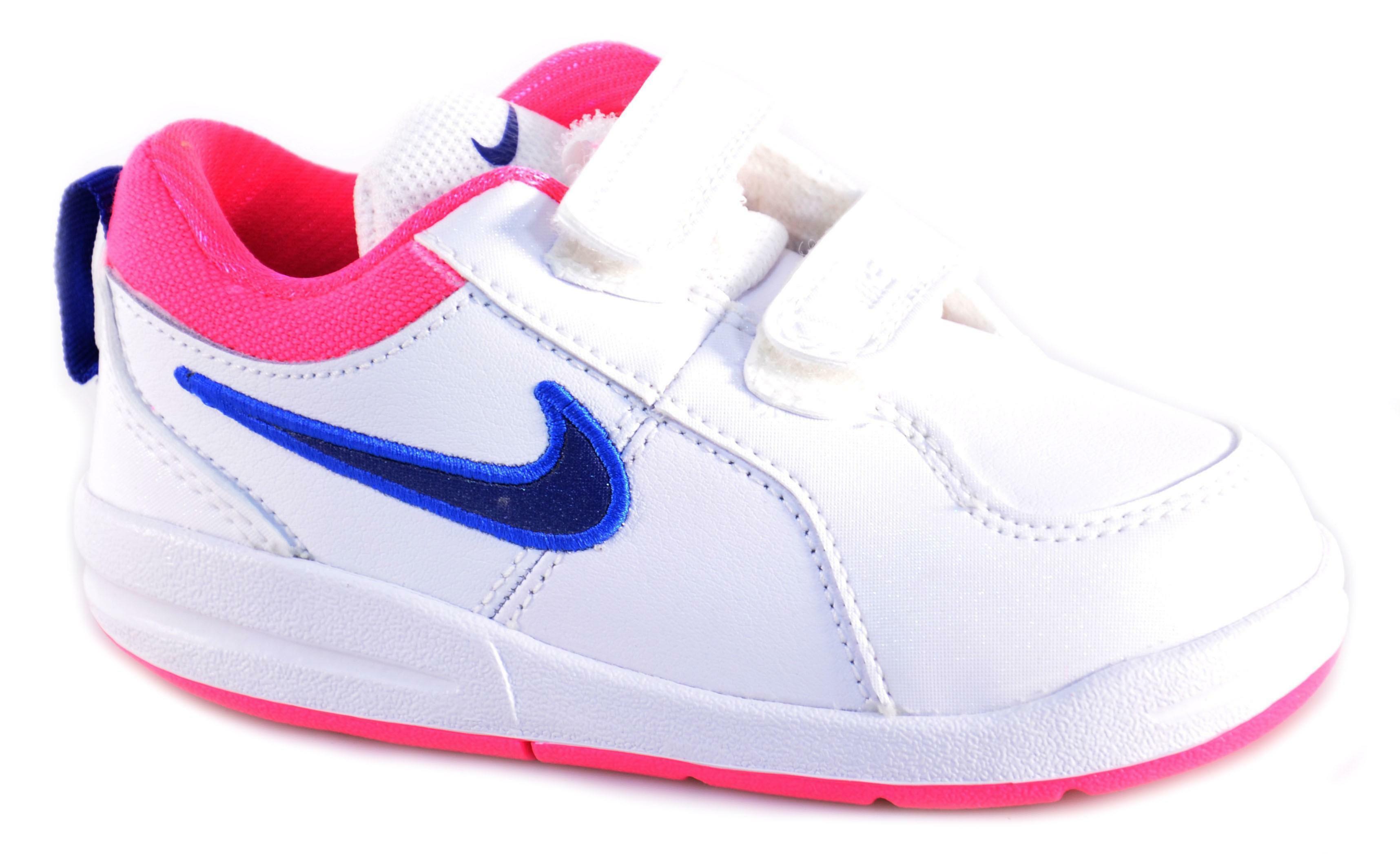 Nike Rosa 4psvScarpe 454477 Blu Velcro Pico Pelle Bambina Bianche 6ybgf7