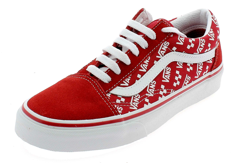 Vans old skool logo repeat scarpe sportive rosse vn0a4u3bw351
