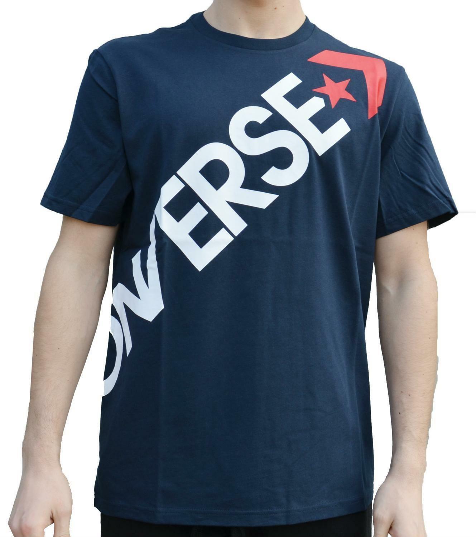 converse converse t-shirt  blu uomo 5902-a04