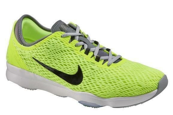 nike nike wmns zoom fit scarpe sportive donna gialle tela 704658