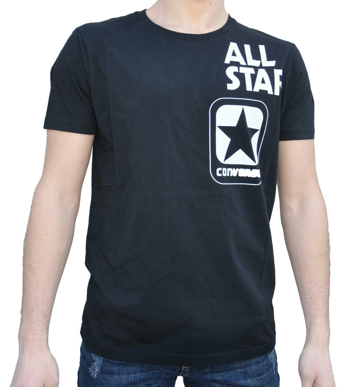 converse converse t-shirt uomo nera 7300a02