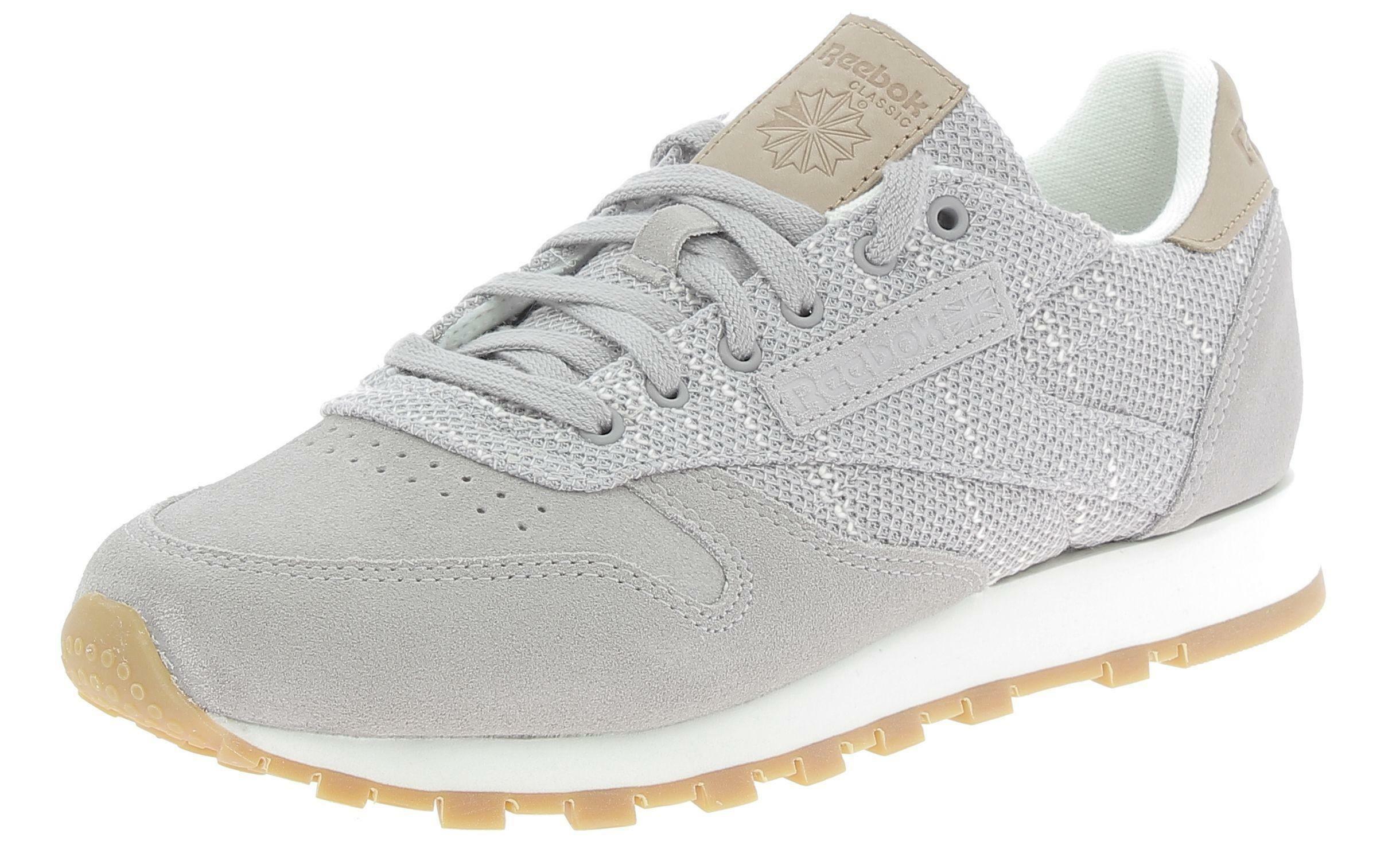 reebok reebok reebook classic lthr ebk scarpe sportive donna grigie