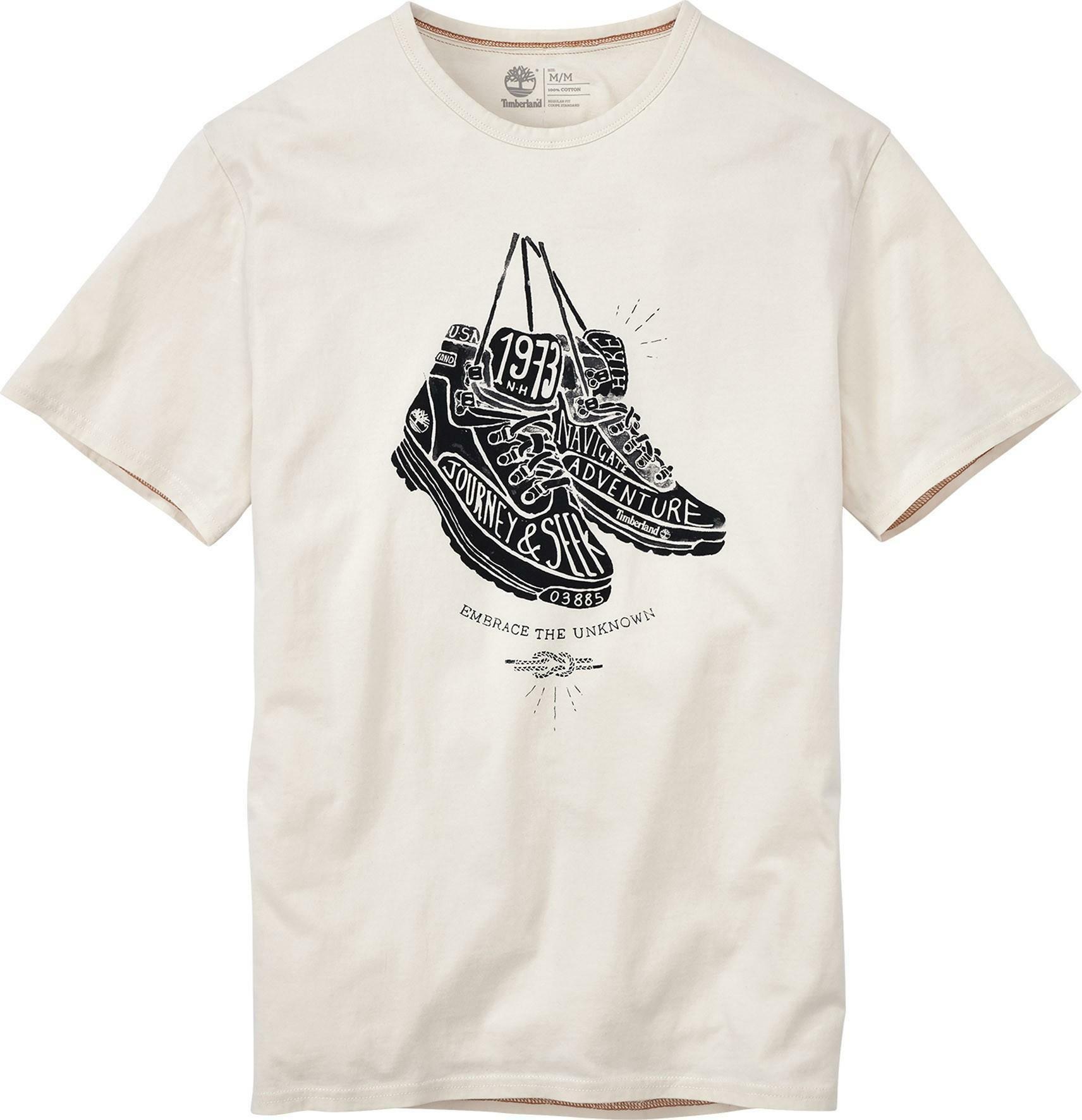 timberland timberland ss hand draw t-shirt uomo bianca