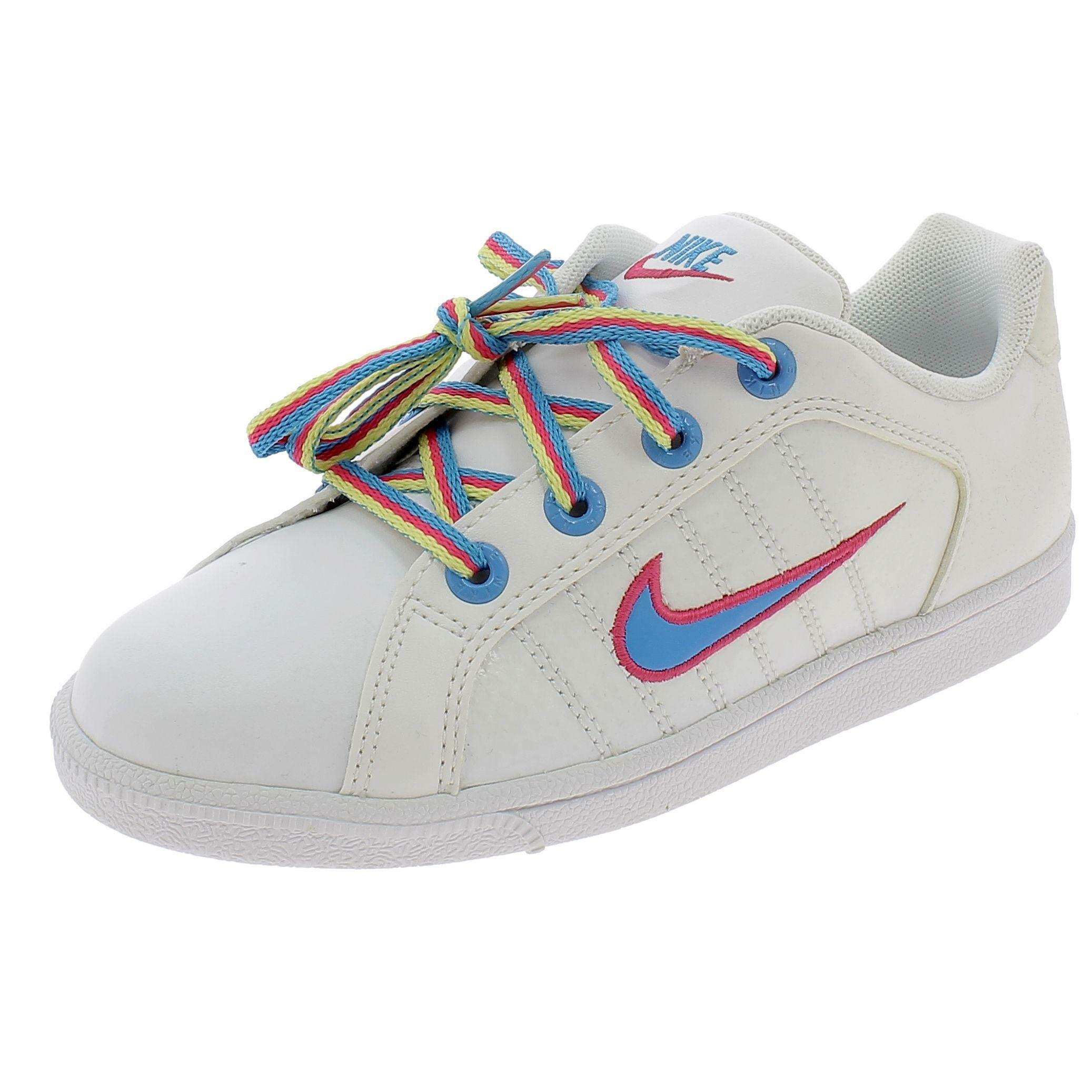 nike court tradition 2 plus (ps) scarpe bambina bianche pelle 386623