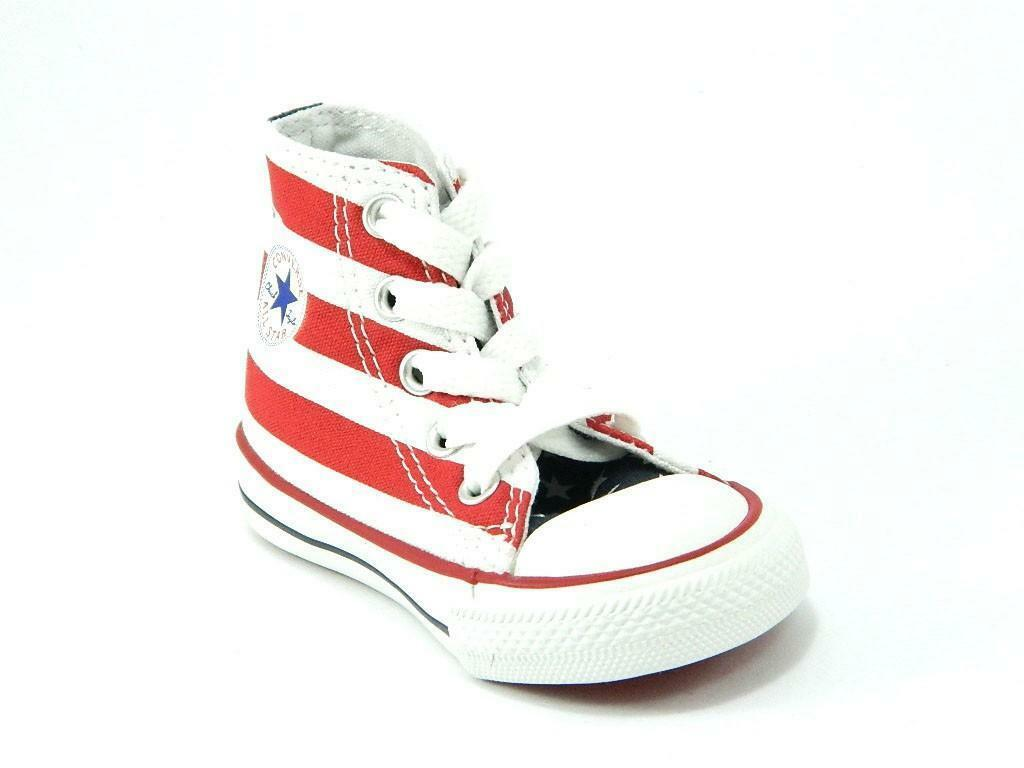 converse converse all star ct scarpa sneakers alta hi bandiera america junior
