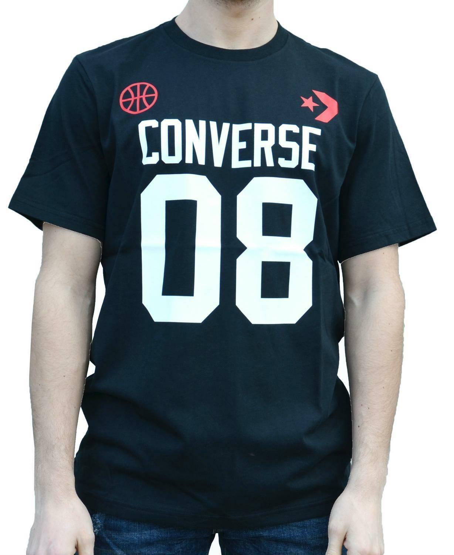 converse converse t-shirt uomo nera 5897a01