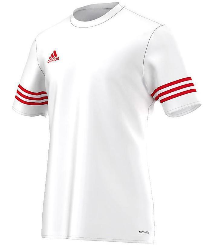 adidas entrada 14 t shirt bambino bianca 100% poliestere f50490
