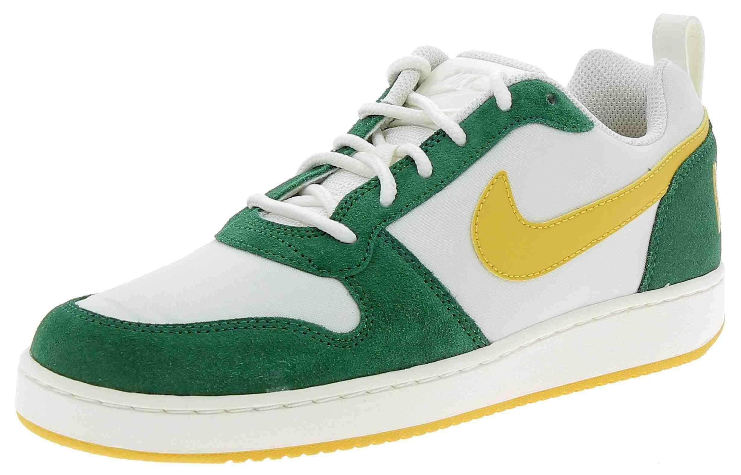 nike nike court borough low prem scarpe sportive uomo bianche verdi