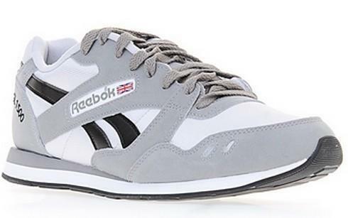 reebok reebok gl 1500 athletic scarpe sportive uomo grigie pelle tela m45967
