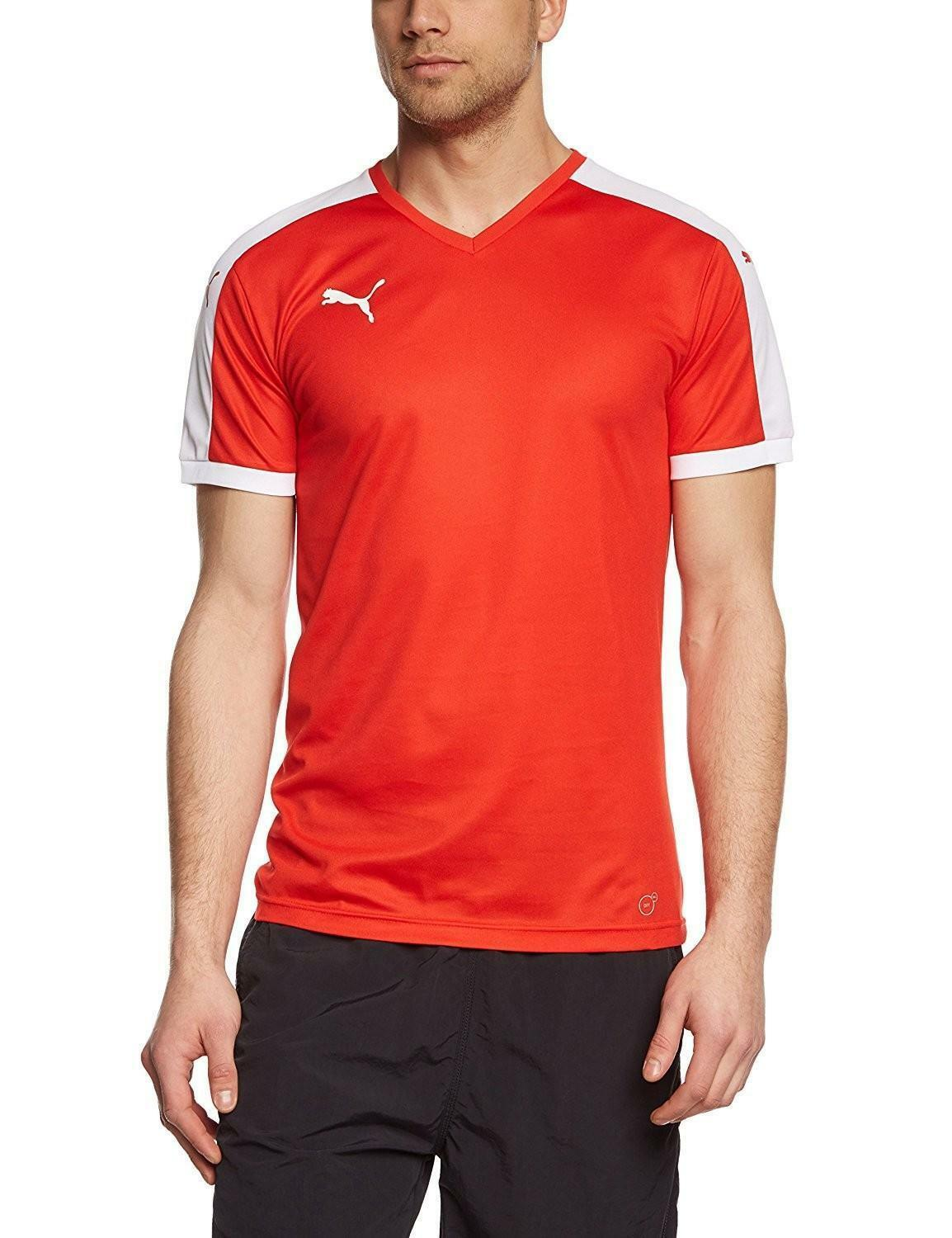 puma puma pitch team t-shirt uomo rossa 70207001
