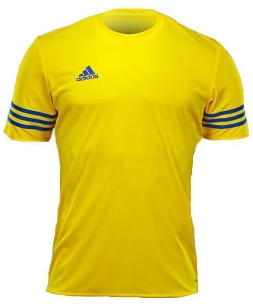 adidas t-shirt entrada 14 jsy climalite bambino gialla poliestere f50489