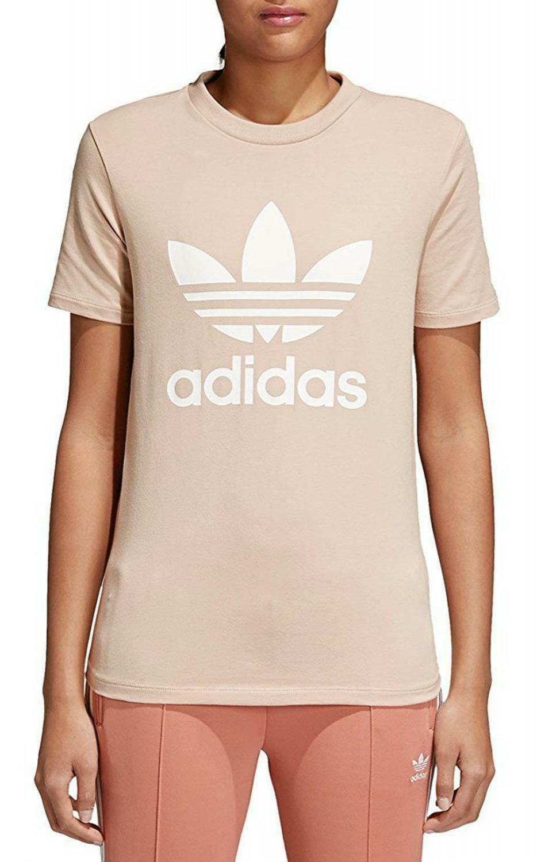adidas adidas trefoil t-shirt donna beige