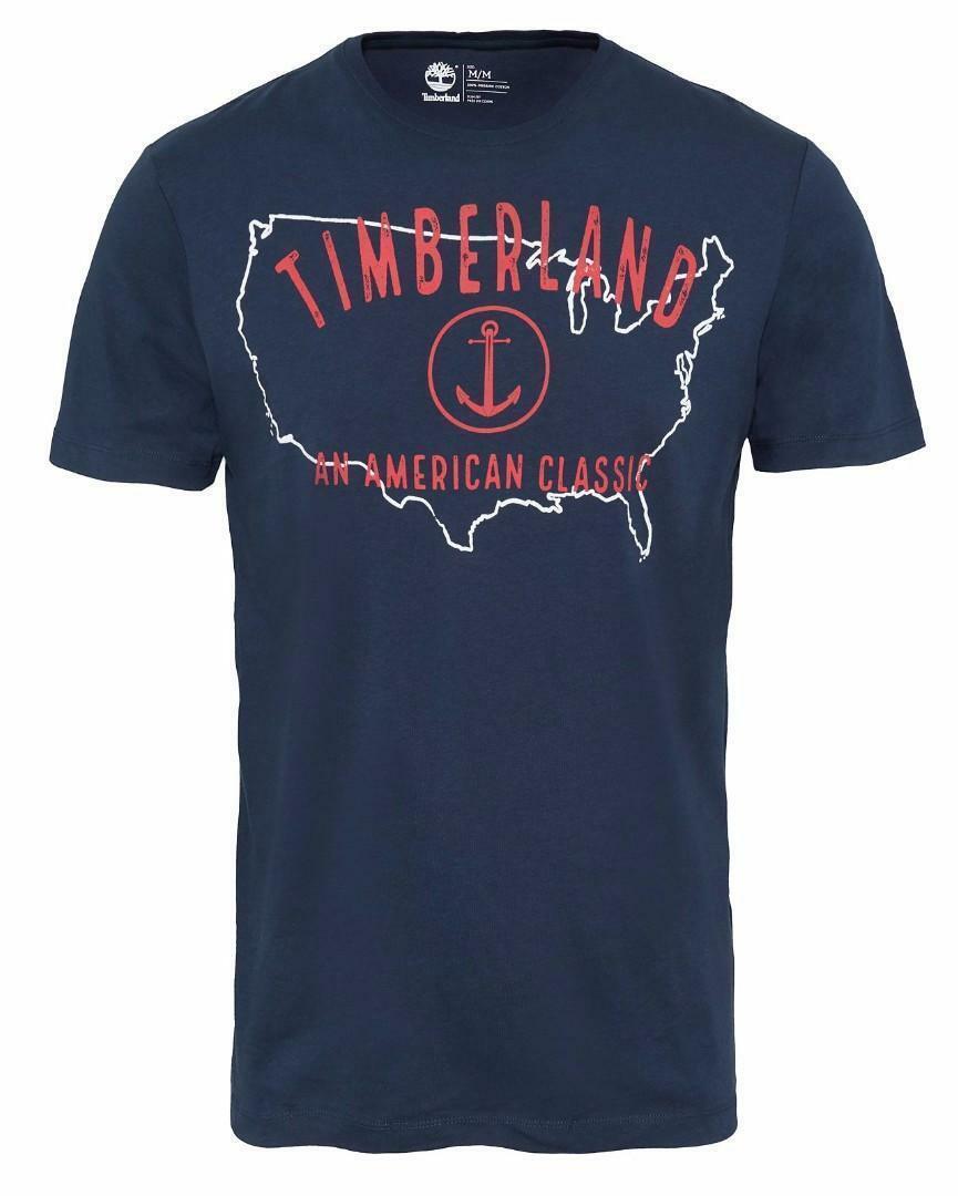 timberland timberland smu ss t-shirt uomo blu