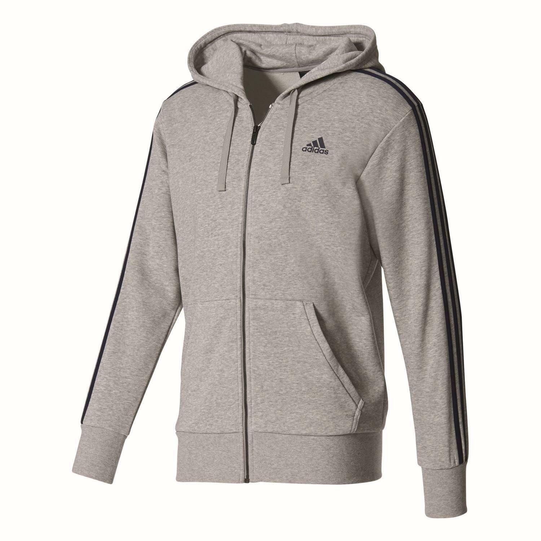 adidas adidas ess 3s giacchetto uomo grigio