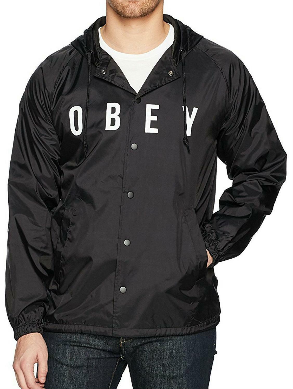 obey obey anyway giubbotto leggero uomo nero 221180293blk