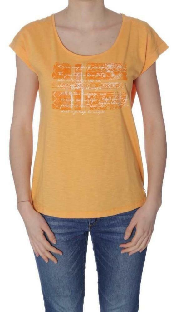 napapijri napapijri sandino t-shirt donna arancione