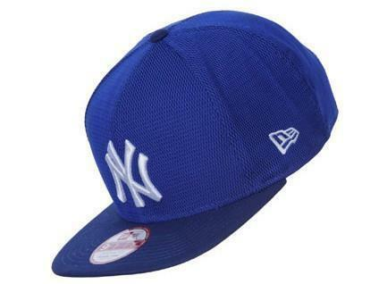 new era new era mens mesh overlay cappello uomo cotone azzurro