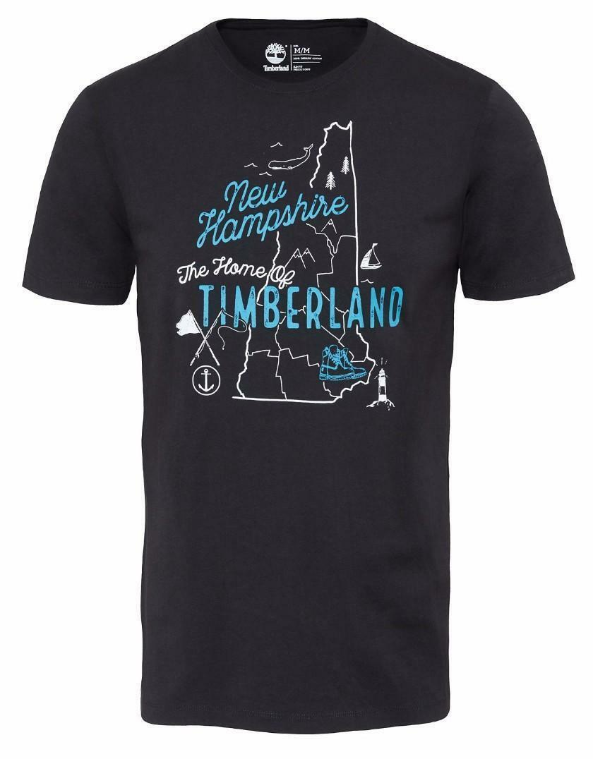timberland timberland ss tbl linlogo t-shirt uomo nera