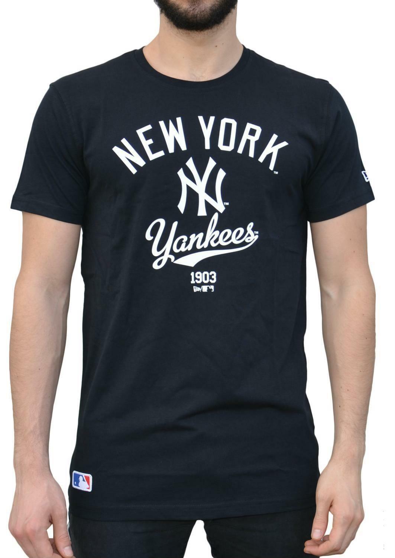 new era new era college tee t-shirt uomo nera 11243113