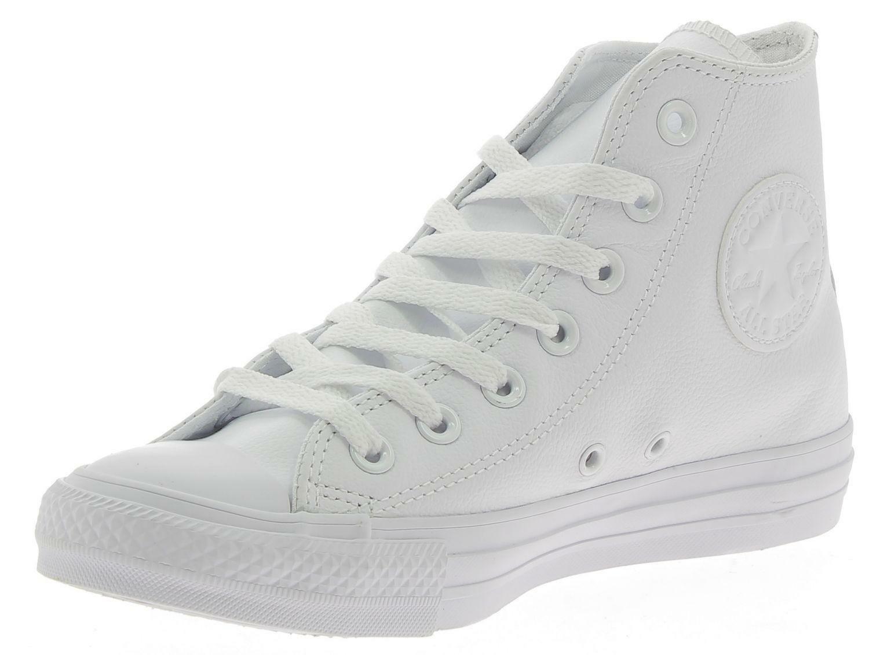 converse converse ctas leather hi monochrome scarpe sportive bianche