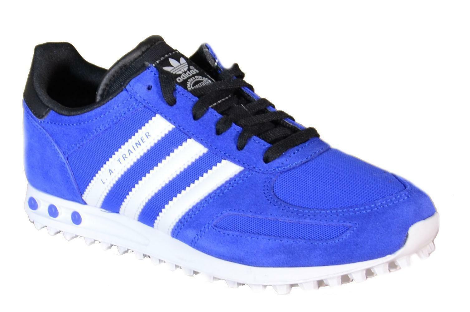 Adidas la trainer k scarpe sportive donna blu pelle tela b25694