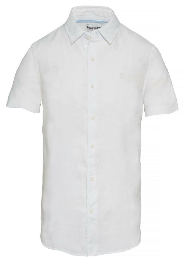 timberland timberland ss cot lin camicia uomo bianca a1kt6k93