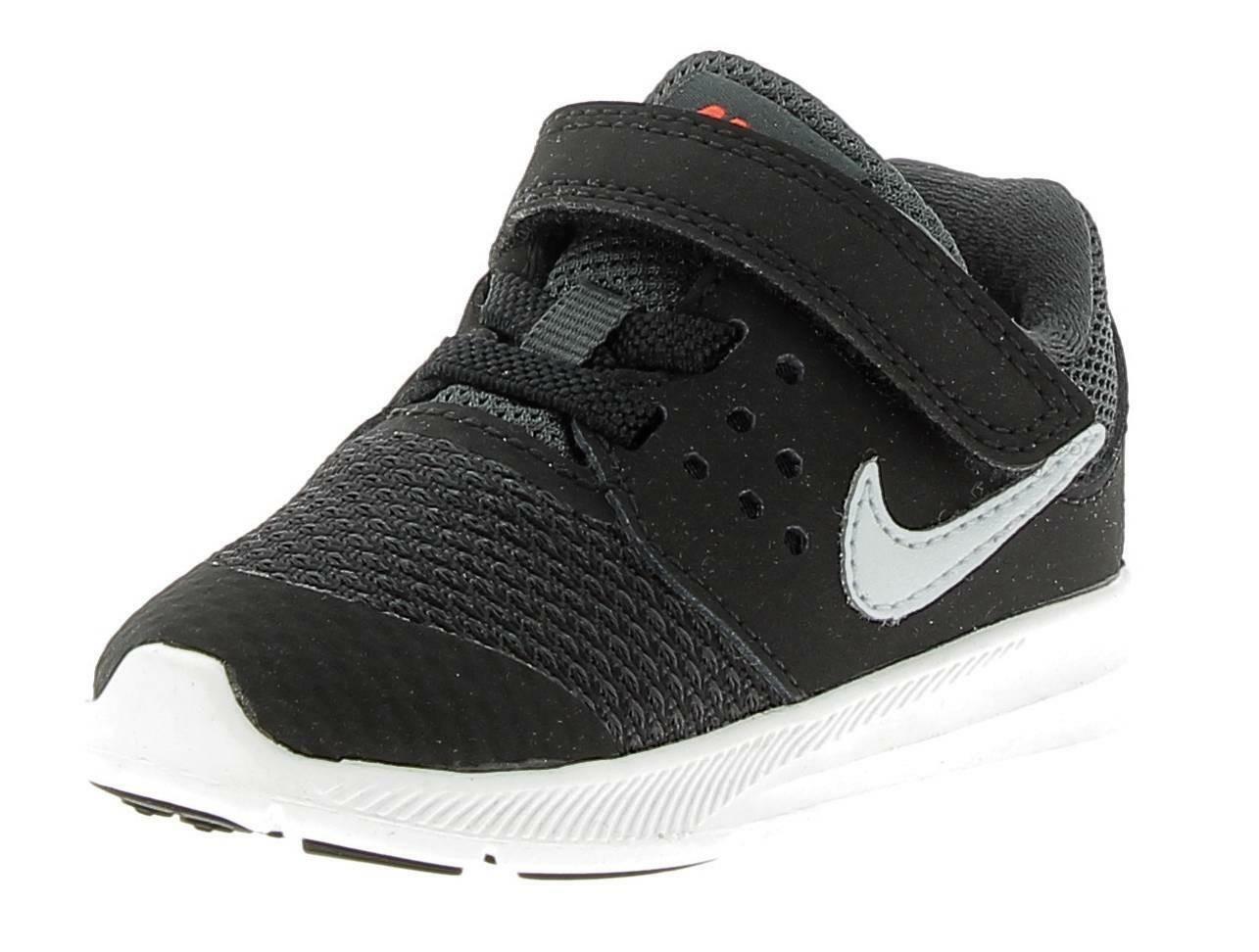 nike nike downshifter 7 tdv scarpe sportive bambino nere strappo