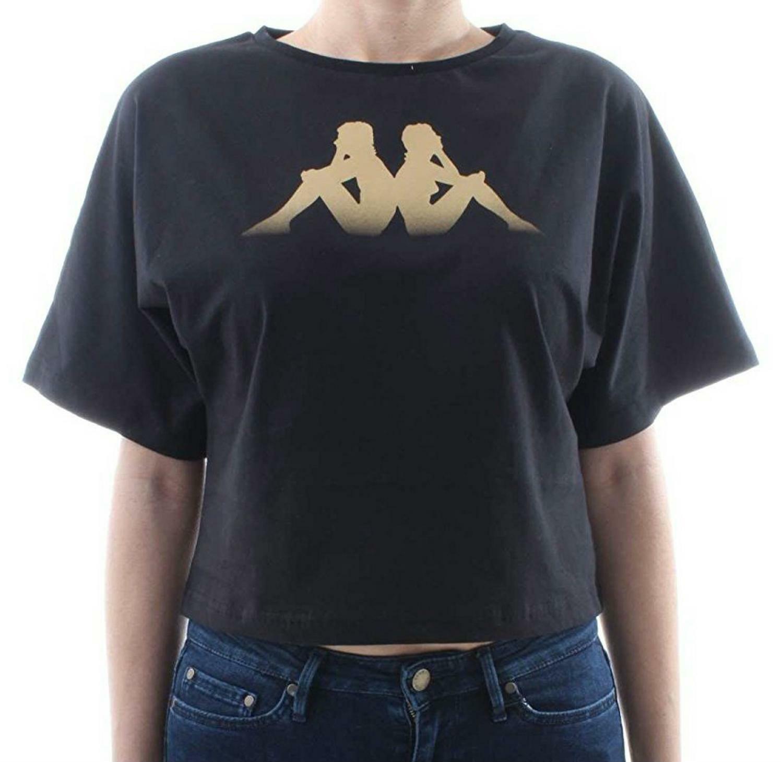 kappa kappa afun t-shirt donna nera 303z4t0